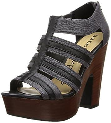 Nanette Lepore Women's Addicted To You Chunky Platform Sandal,Elephant,6 M US