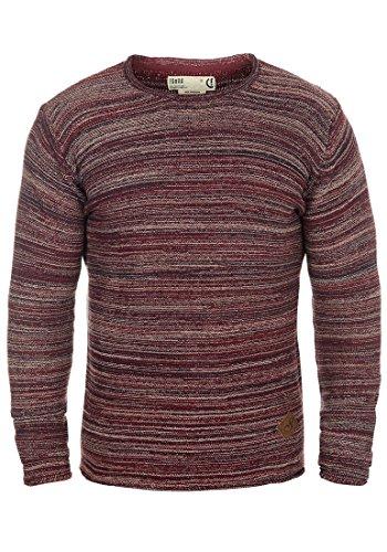 SOLID Menghi - Maglione da Uomo, taglia:L;colore:Bordeaux (0905)