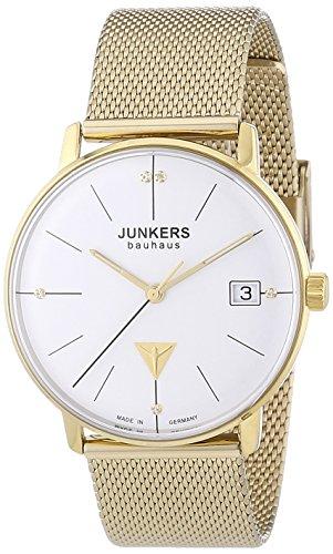 Junkers  Bauhaus - Reloj de cuarzo para mujer, con correa de acero inoxidable, color dorado