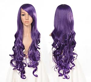 "Tengs 32"" 87cm Spiral Curly Cosplay Wig--Purple"