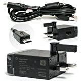GENUINE SONY CHARGER FOR XPERIA U P FITS XPERIA S + EC450 MICRO USB DATA CABLE BY D2D