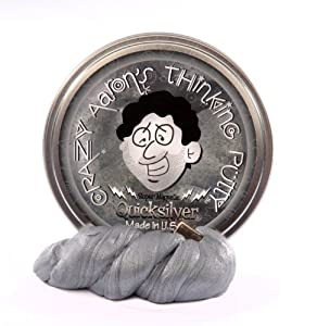 Crazy Aaron's Thinking Putty - Super Magnetic - Quicksilver - Includes Magnet