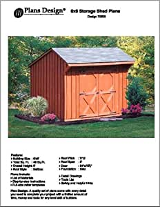 6 39 x 8 39 saltbox storage shed playhouse plans for Saltbox garden shed plans