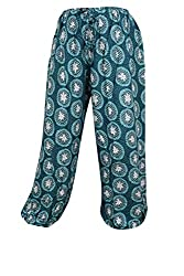 Indiatrendzs Women Pajama Printed Rayon Green Evening Wear Yoga Pants