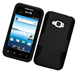 AIMO Apex Hard Hybrid Gel Case For LG Optimus Elite LS696 - Black