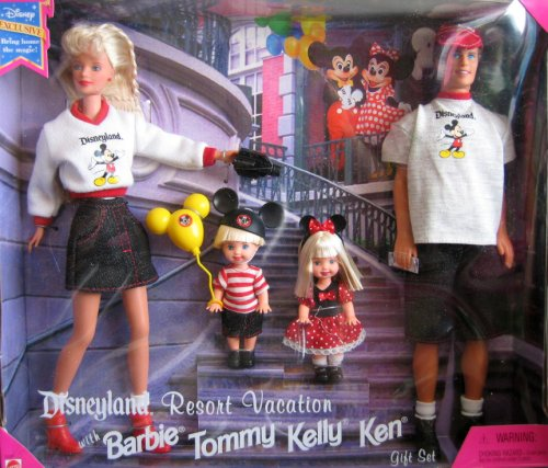 Disneyland Resort Vacation Mattel Barbie Tommy Kelly Ke