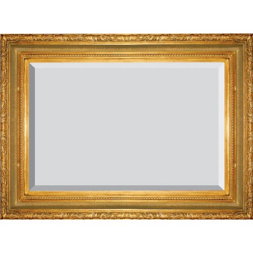Timeless Reflections by AFD Home 10037000 T Ribbed Foliate Mirror, Large, Antique Gold Finish