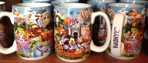 "Disneyland Resort Storybook ""Grandpa"" Ceramic Coffee Mug - Disney Parks Exclusive & Limited Availability"