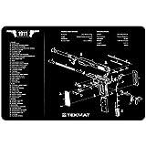 TekMat 11-Inch X 17-Inch Handgun Cleaning Mat with 1911 Imprint, Black