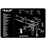 TekMat 11-Inch X 17-Inch Handgun Cleaning Mat with 1911 Imprint, Black
