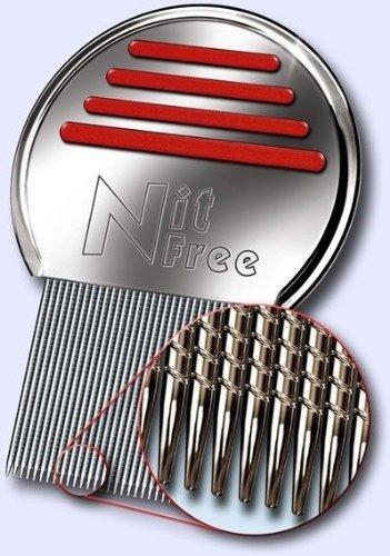 Nit Free ニットフリーコーム 頭シラミ&シラミ卵駆除ステンレス櫛 特許取得