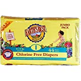 Earth's Best Chlorine-Free Diapers, Size 1, 176 Count (Packaging May Vary)