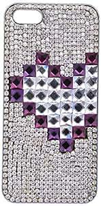 Smart Fox Sirvoski Full Stone Bridal Back Cover For I Phone5S/5G 1389409031 (Silver)