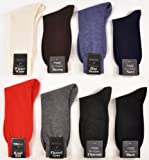 1 Pair EXTREMELY RARE Zimmerli or Bresciani 100% Cashmere Crew Dress Socks-Charcoal