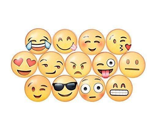 Charm 10 Pack Round 3D Emoji Fridge Magnets Party Favors (Emoji Fridge Magnets compare prices)