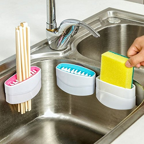 Cutlery Brush Cleaner Sucker Fork Spoon Cleaner Utensil Sink Scrubber Kitchen Good Clean Helper (Solder Scrubber compare prices)