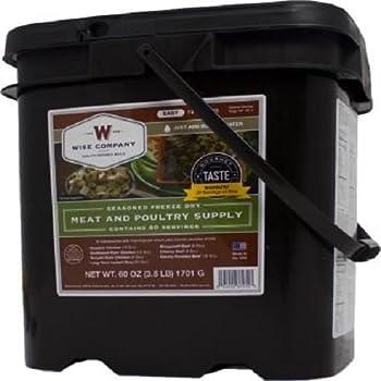 Wise Company 60 Serving Gourmet Seasoned Freeze Dried Meat