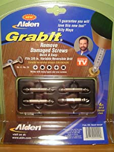 Grabit Damaged Screw Extractor As-Seen-On-TV with Billy Mays