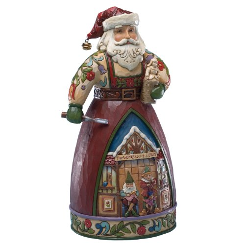Heartwood Creek 4025490 Babbo Natale Resina, Design di Jim Shore, 26 cm