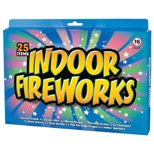 25 Indoor Fireworks. Remember these? Relive the joy of watching turd shapes appearing before your eyes!