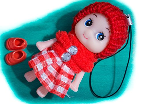 Red Cute Snug Cozy Doll Wool Pompom Toy Charm Keyring Keychain Key Chain Soft Fluffy Cotton Knit Hat Gem D Dung D-Dung Sweet Unusual Innocent Hipster (Red) (Monster Energy Pom Beanie compare prices)