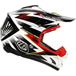 Troy Lee Designs Cyclops SE3 Motocross/Off-Road/Dirt Bike Motorcycle Helmet - Black/Red / Large