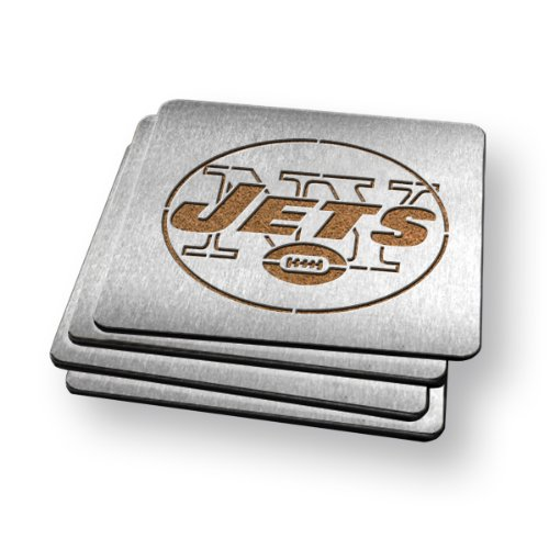 Sportula Products Boasters Stainless Steel Coasters, New York Jets at Amazon.com