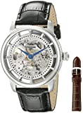 Stuhrling Original Men's 393.33152Set Classic Winchester Skeleton Automatic Silver Tone Watch Set