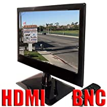 """GW Security 18.5"""" Professional CCTV Security Camera LED Monitor with 2x BNC, HDMI and VGA Inputs; 1x BNC Loop Output - Remote Control Included for Easy Switching to Different Input Sources"""