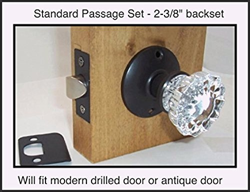 A very affordable Do-It-Yourself 12 point Fluted Crystal Glass Door Knob Sets for Modern Doors. Our Original Wood Adapters to install in modern pre-drilled doors (2-3/8 Residential Passage) (Interior Designer Glass Doors compare prices)