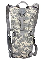 Ultimate Arms Gear Tactical ACU Army Digital Camo Camouflage Hydration Pack Backpack Carrier With 2.5 Liter / 84 oz. Water Drinking Bladder Reservoir Capacity System Includes Hosing And Hands Free Bite Valve, Heavy Duty D-Rings, Storage Pocket, Adjustable Shoulder Strap & Emergency Carry Handle - Camping Hiking Outdoor Hunting Airsoft Bicycle Running Sports Military Patrol