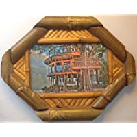 Tree Hut Photo in Bamboo Frame
