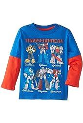 Transformers Little Boys' Character Guide Skater-Sleeve T-Shirt