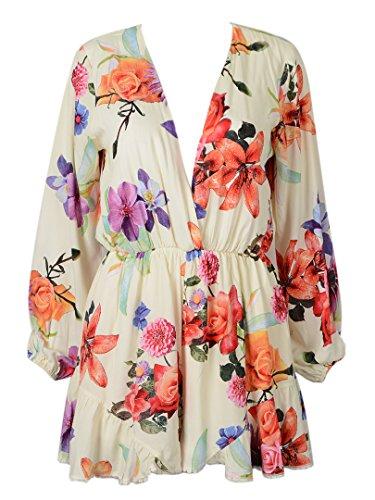 e2c98d83a3e Choies Women s Floral Print Long Sleeves Romper Playsuit Jumpsuit xl ...
