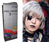 Permanente Haarfarbe Tönung Coloration Haar Cosplay Gothic Punk Ash Silber