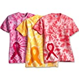 Dyenomite Breast Cancer Awareness Ribbon Tie-Dye Adult T-shirt Tee