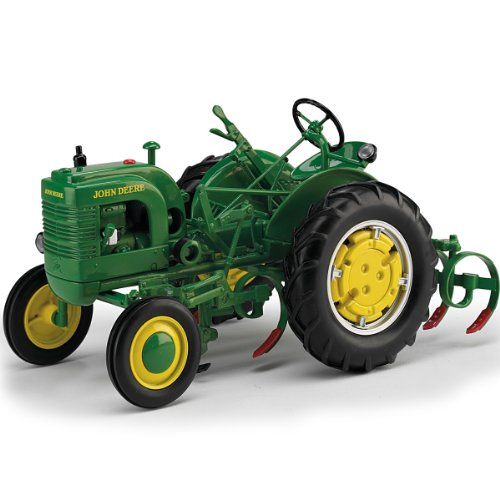 Diecast Tractor: John Deere La With Leaf Spring Cultivator By The Hamilton Collection