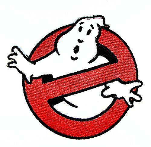 Ghost Busters Movie Logo I Embroidered Sew Iron on Patches Great Gift for Dad Mom Man Woman (Cheap Iron On Patches compare prices)