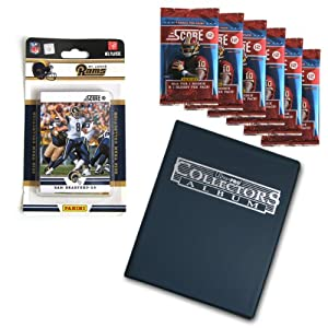 NFL St. Louis Rams Complete 2012 Score Team Set with Bonus Packs and Album by Panini