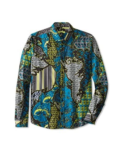 Versace Jeans Men's Long Sleeve Printed Shirt