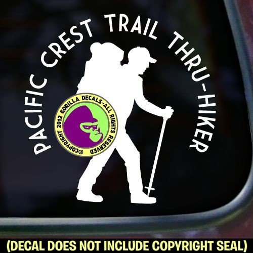 PACIFIC CREST TRAIL THRU HIKER Vinyl Decal Sticker 1 (Camper Hiking Boots compare prices)