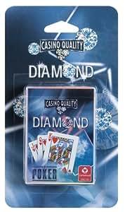 Cartamundi - 108030324101 - Jeu de Société - Diamond Poker - Jeu de Poker 54 Cartes - Format Poker - Blister - Etui Bleu