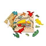 Juguetes Juegos Educativos Rompecabezas M�ltiples Capas Dibujos Animados Madera Jur�sico Dinosaurio Ni�os