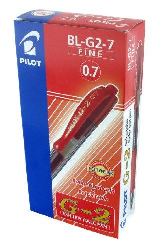 Pilot BL-G2-7 - Bolígrafo (Rojo), 12 unidades