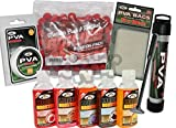 Carp Fishing PVA Set & 5 Liquids Tube Plunger + 7M String + Bags