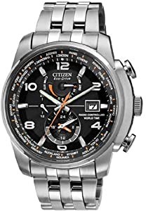 Citizen #AT9010-52E Men's Eco Drive Stainless Steel Perpetual Calendar World Time A-T Watch