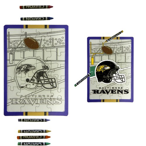 Baltimore Ravens Children Fun Color Your Own Puzzle Set