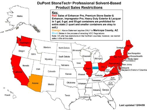 DuPont Stonetech Enhancer Pro Sealer - 1 Gallon