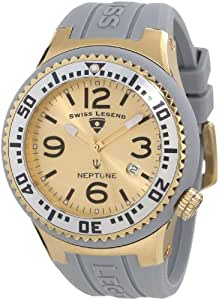 Swiss Legend Men's 21848P-YG-02-S Neptune Gold Dial Grey Silicone Watch