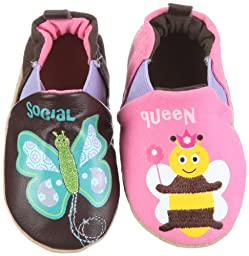 Robeez Infant Toddler Girl Slip on Shoes Princess Bee Esp/azalea 18-24 Months